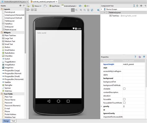 android studio gui tutorial android hello world exle sunny sultan personal blog