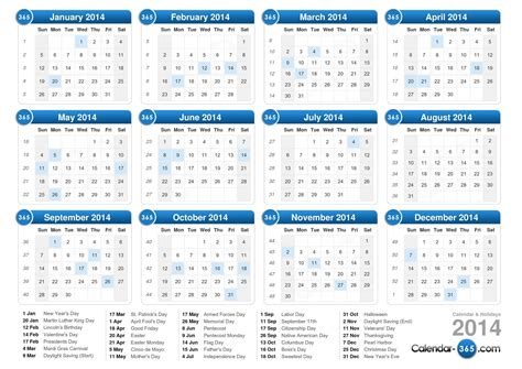 printable calendar 2014 word get your 2014 us calendar printed today with holidays