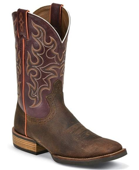justin silver boots justin silver cattleman cowboy boots square toe