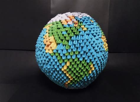 How To Make Paper Earth - how to make origami earth globe difficult