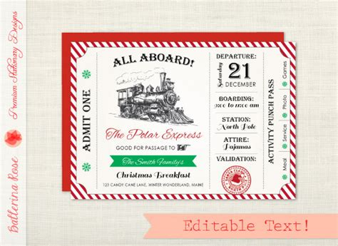 printable tickets for christmas party polar express invitation christmas party invitation