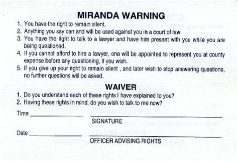 printable rights card local attorneys police weigh in on u s supreme court s