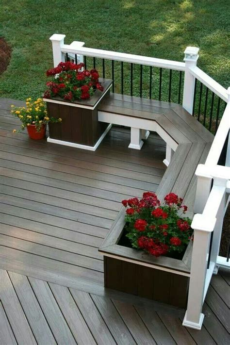 deck bench seating ideas deck bench seat no planters but lift up tops for storage