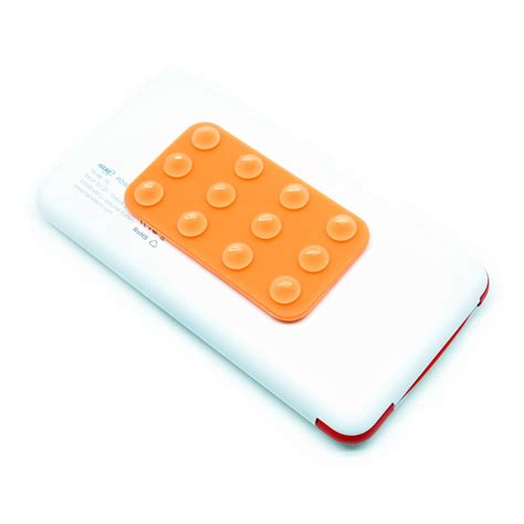 paket hame t6 power bank 10000mah hame t6 flat silicone suction holder white