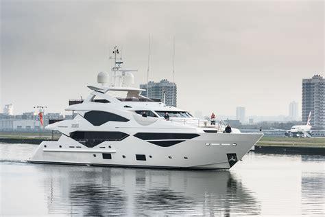 yacht the boat show sunseeker 131 super tri deck yacht london boat show 2016