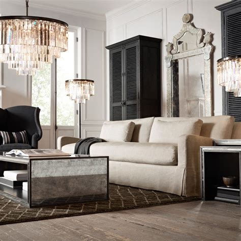 restoration hardware living rooms october
