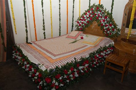 wedding room decoration bed decoration ideas with lowers for wedding day