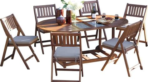 outdoor patio table sets outdoor interiors 7 folding patio set patio table