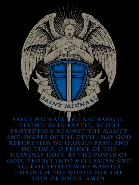 saint michael prayer poster police life