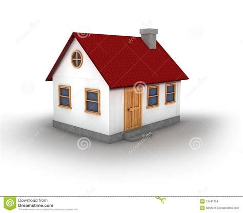 image of a house 3d render of a house stock illustration illustration of