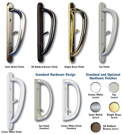 Door Hardware Finishes by Patio Door Handle Hardware Style And Finishes