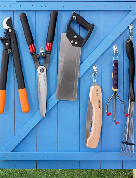 how to hang tools in shed how to organize your garden shed ty pennington