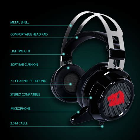 Diskon Redragon H301 Usb Siren 2 Gaming Headset Tipidpc Redragon Siren 2 H301 Usb Gaming Headset 7 1