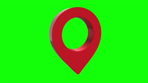 pin geo location isolated icon stock footage video