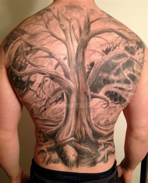 back tattoos for guys 40 tree back designs for wooden ink ideas