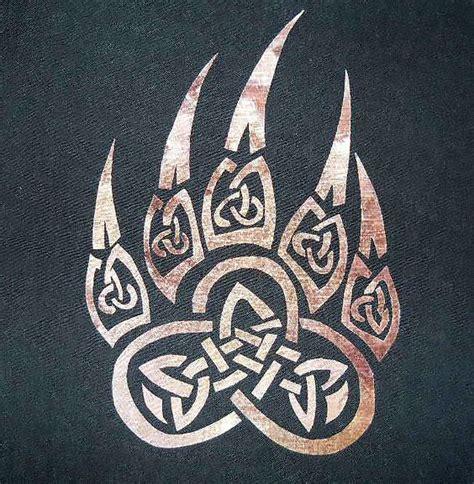 celtic animal print paw tattoo design