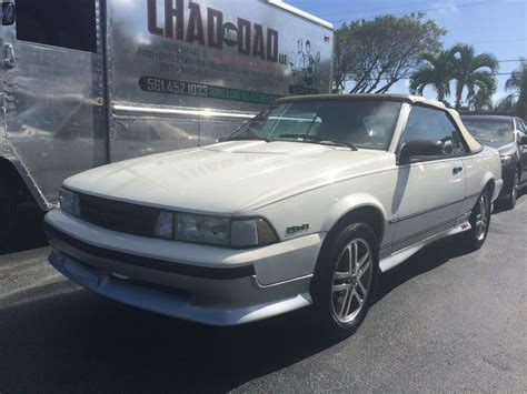 1989 chevrolet cavalier z24 for sale 1989 cavalier z24 convertible chevy convertible classic