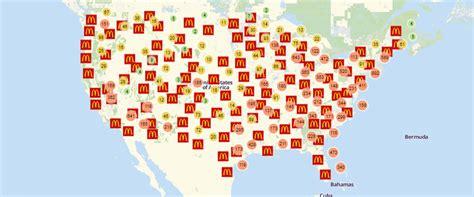 mcdonalds map usa create a mcdonald s locations worldwide map mcdonald s