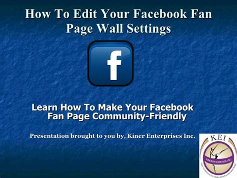how to make video fan edits how to edit your facebook fan page wall settings