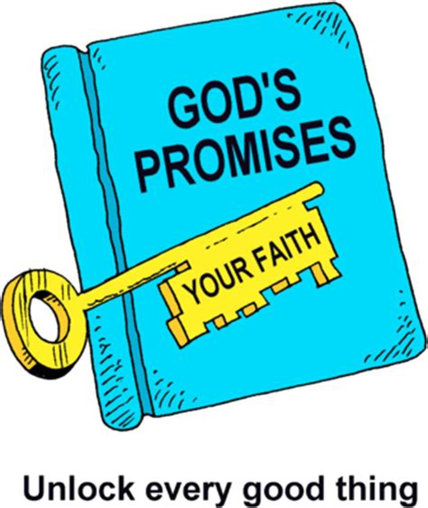 faith clipart image a bible with the word gods promises and a key with