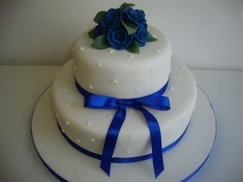blue rose  tier cake wedding cakes cakeology