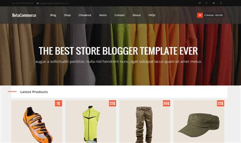 free blogger templates for online store betacommerce shopping blogger template templateism