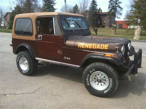 tan jeep renegade purchase used 1986 jeep cj7 renegade sport utility 2 door