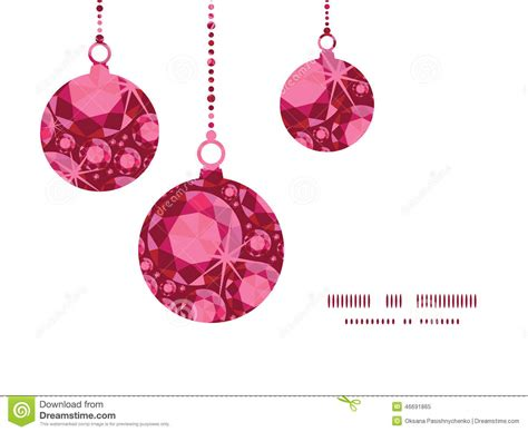 Card Ornaments Template by Vector Ruby Ornaments Silhouettes Stock Vector