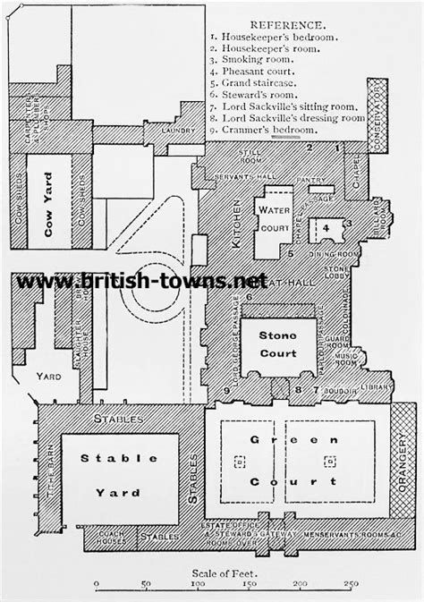 knole house floor plan knole ground plan of knole
