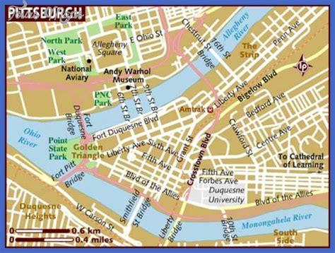 map usa pittsburgh pittsburgh map toursmaps