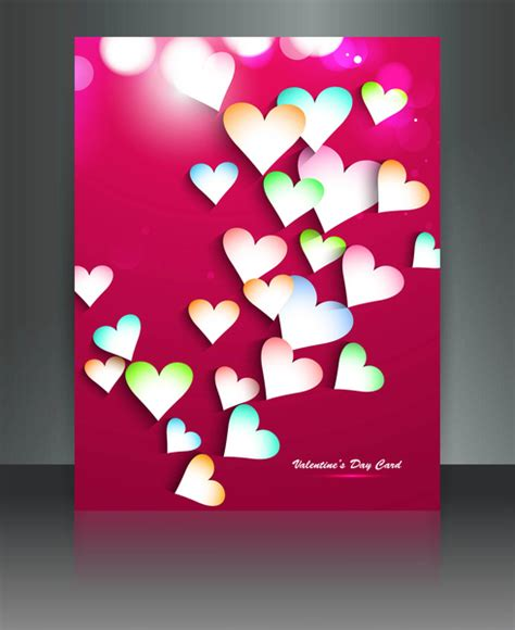 adobe illustrator s day card template valentines day for brochure template background
