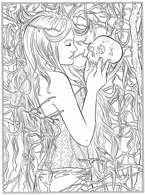 coloring book for goths 644 best images about coloring pages to print on
