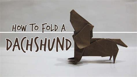 origami dachshund how to fold an origami dachshund fuchimoto muneji