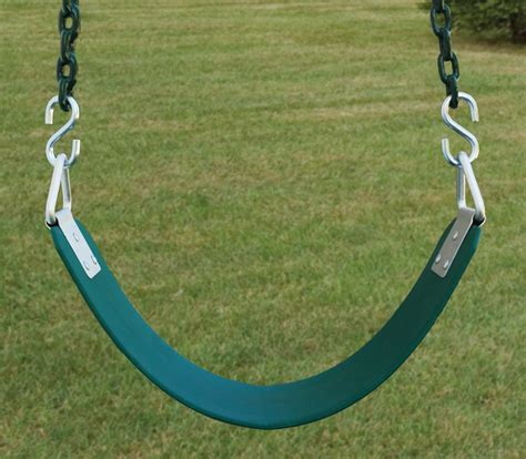 real swing basic commercial belt swing seat with 8 6 quot chain