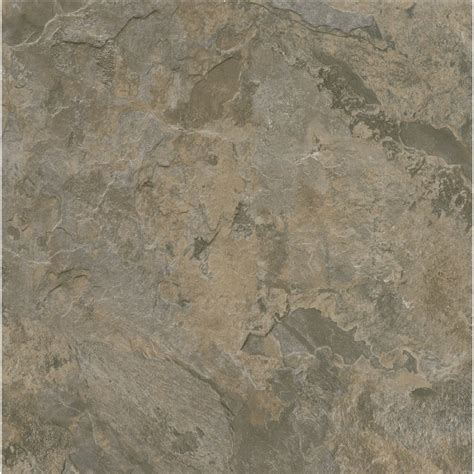 shop armstrong terraza 1 piece 12 in x 12 in gray brown peel and stick stone vinyl tile at lowes com