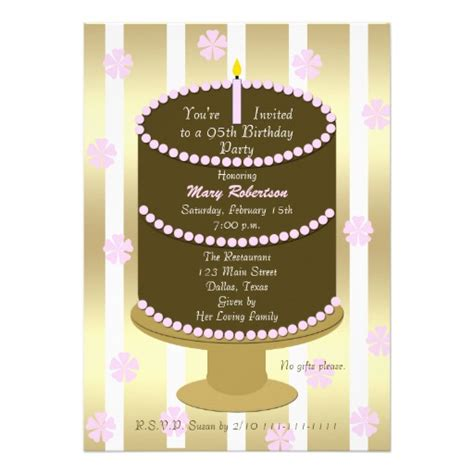 Personalized 95th Birthday Party Invitations Custominvitations4u Com 95th Birthday Invitation Templates