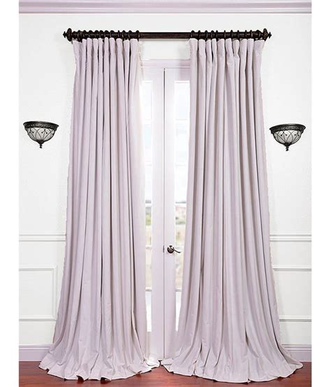 wide white curtains get signature off white double wide velvet blackout pole
