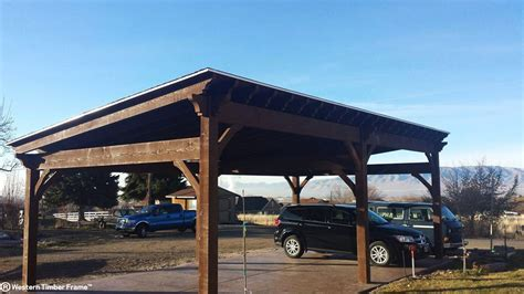 carport pavillon backyard wintertime landscape remodel in 1 day