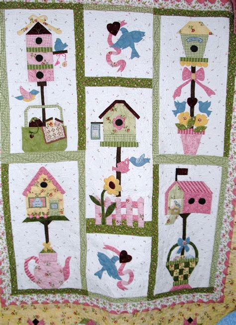 Birdhouse Quilt bird house quilt with fabric