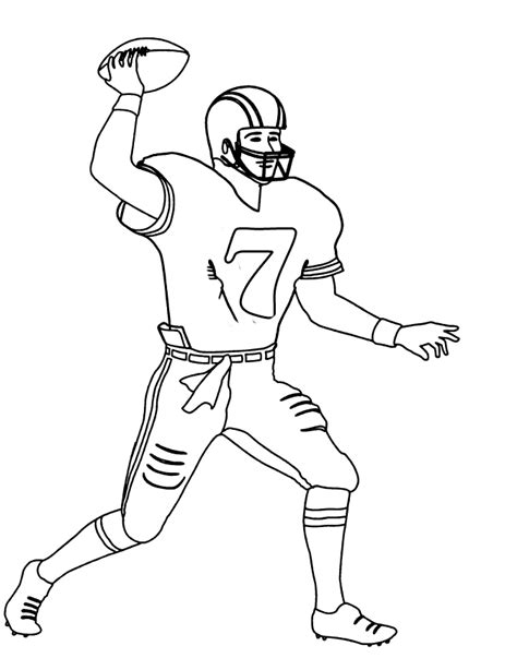 Sports Player Outline by Drawing Of Football Players Free Clip Free Clip On Clipart Library