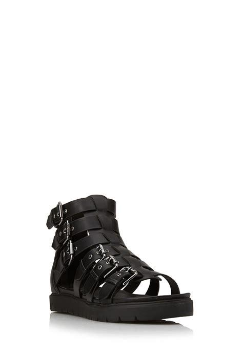gladiator sandals forever 21 forever 21 chic gladiator sandals in black lyst