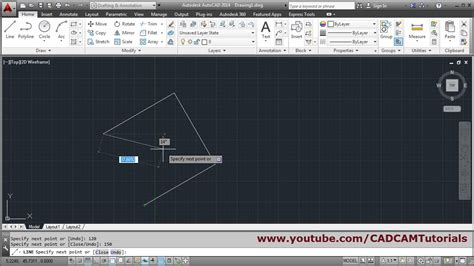 Drawing 90 Degree Autocad by How To Draw Line With Angle In Autocad