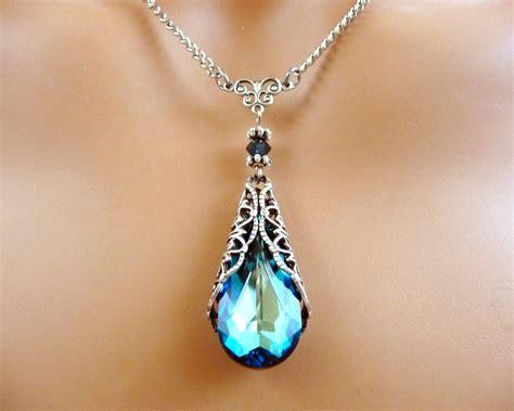 how to make swarovski jewelry swarovski jewelry necklace gift blue