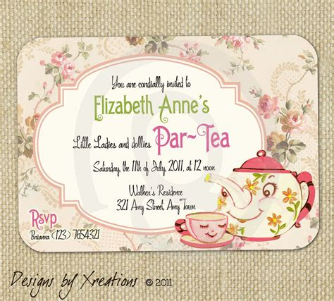 25 unique tea party invitations ideas on pinterest high tea