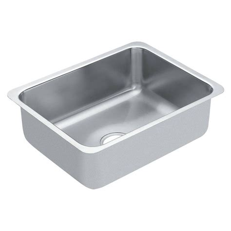 Stainless Steel Undermount Kitchen Sinks Single Bowl Moen 1800 Series Undermount Stainless Steel 18 In Single Bowl Kitchen Sink G18191 The Home Depot