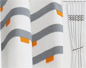 Orange And Grey Curtains Grey And Orange Curtains Etsy Uk