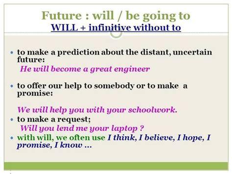 preguntas con will won t future tenses will going to 8 18 v future tense will