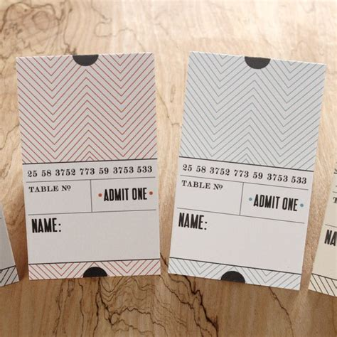 folded table place cards ticket place card folded printable by basic invite