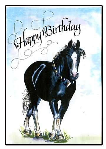 printable birthday cards with horses happy birthday horse card