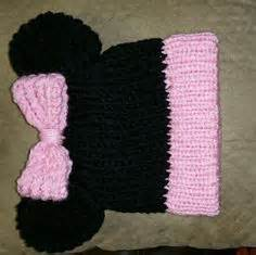 loom knit minnie mouse hat mickey and minnie mouse knit hat pattern by cynthia